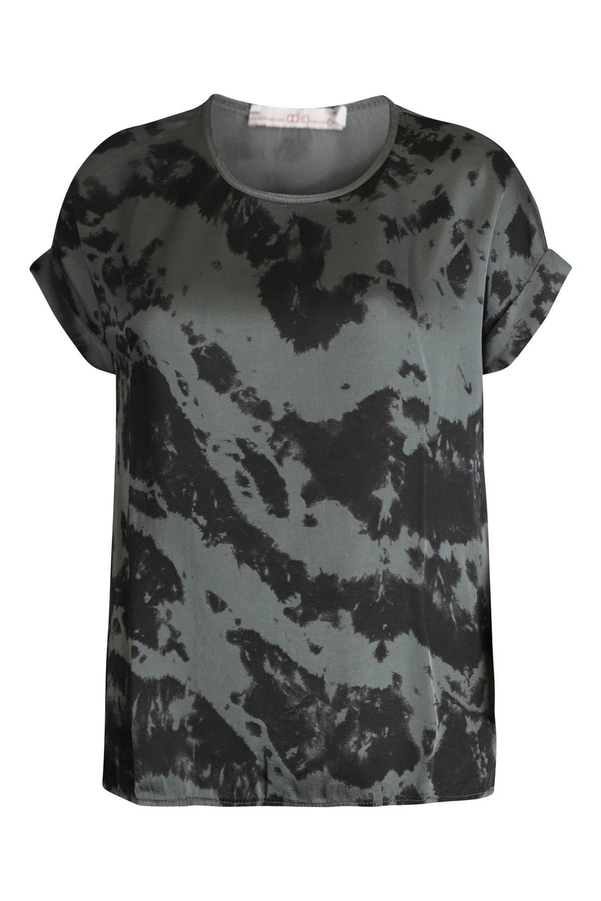 AAIKO Shirt - Top Groen MERLE TIEDYE