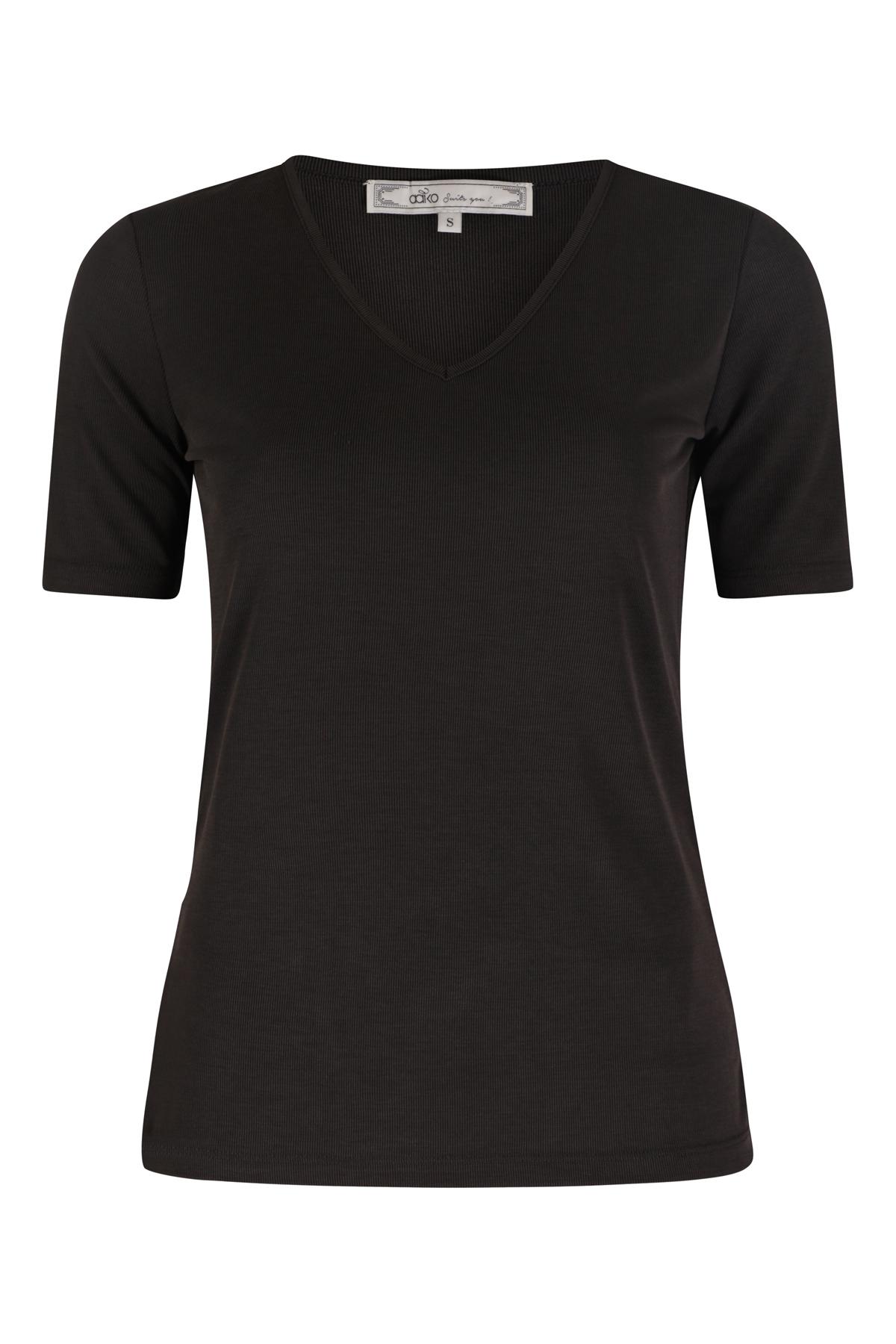 AAIKO Shirt - Top Zwart TALEA MOD 114