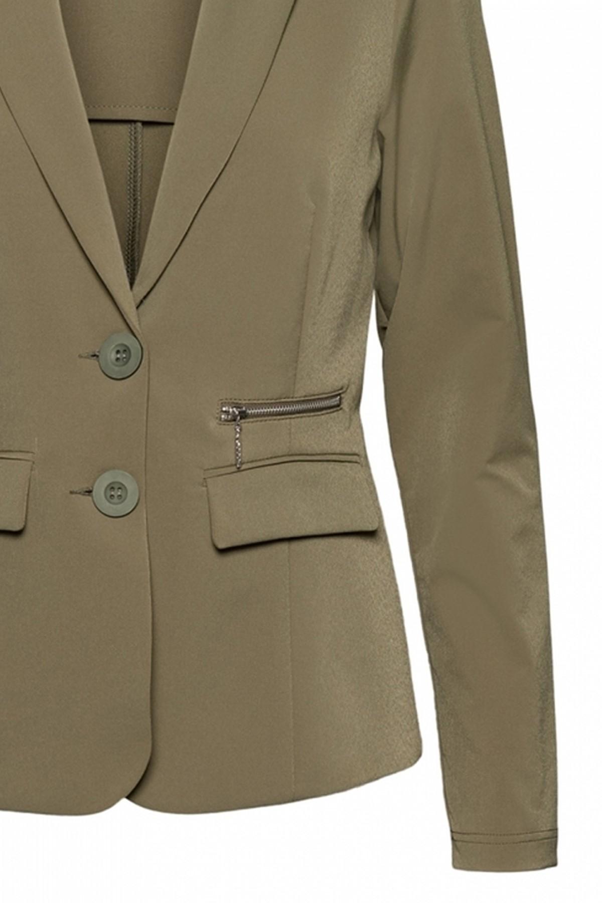 &Co Woman Blazer - Jasje Groen Phileine zipp