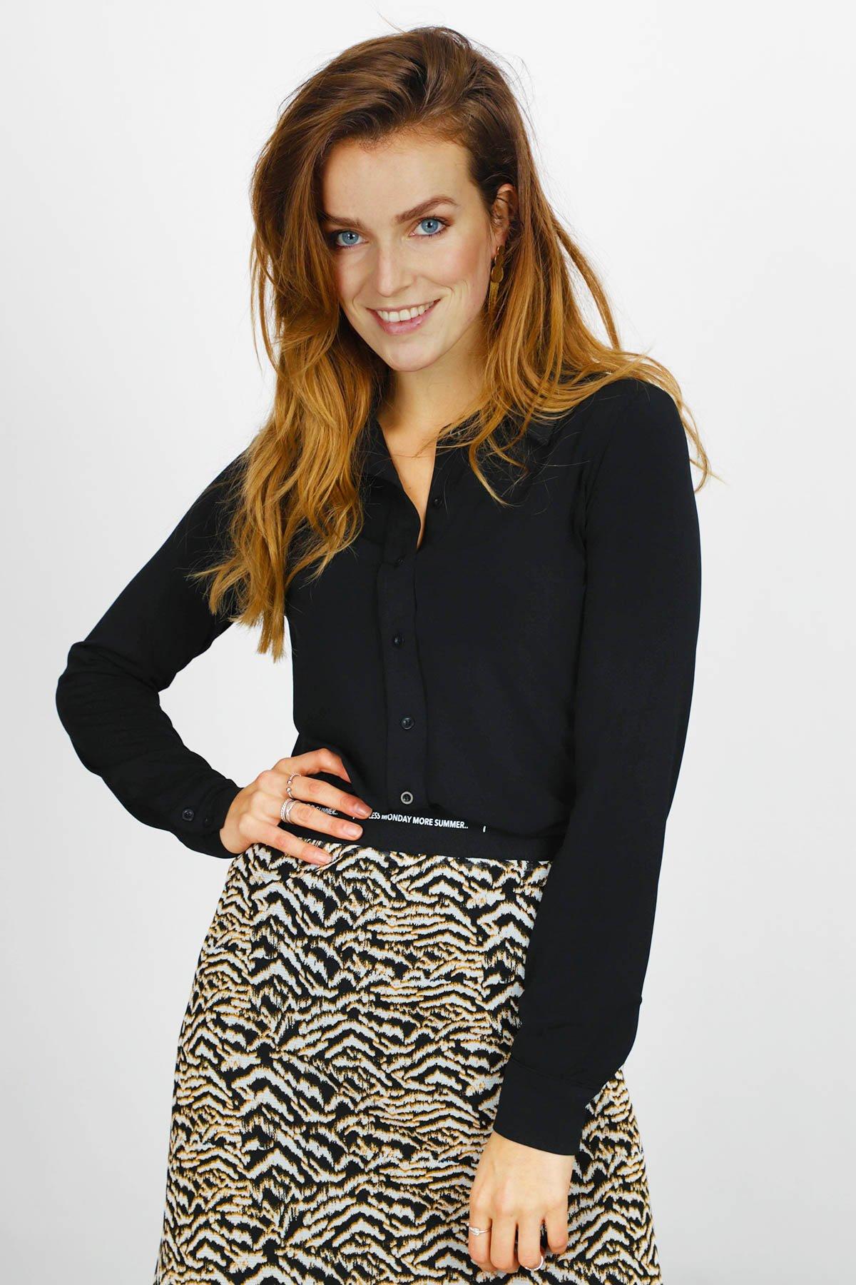 &Co Woman Blouse Zwart Lotte