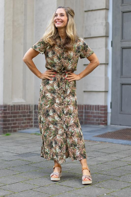&Co Woman Maxi-jurk Multicolor Amalia