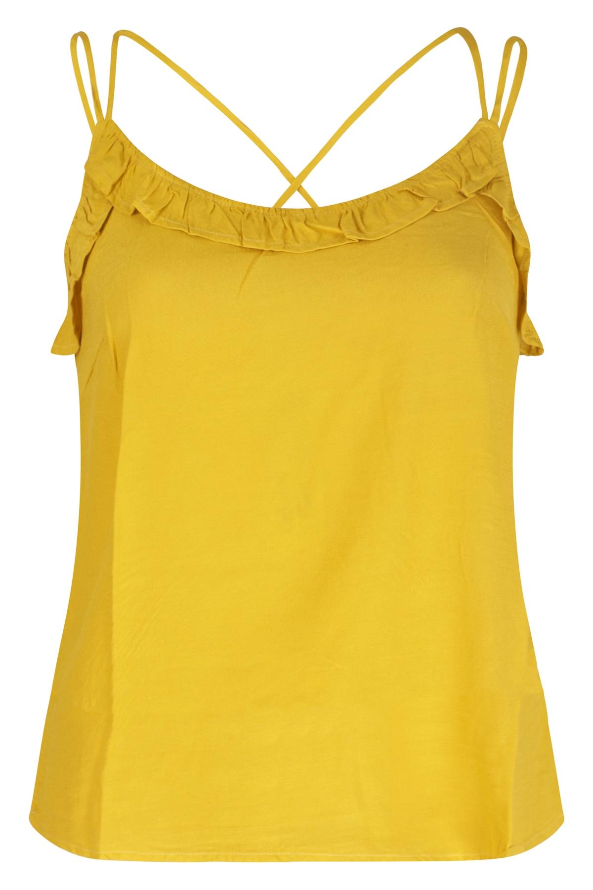 Femme9 Shirt - Top Geel Sanja