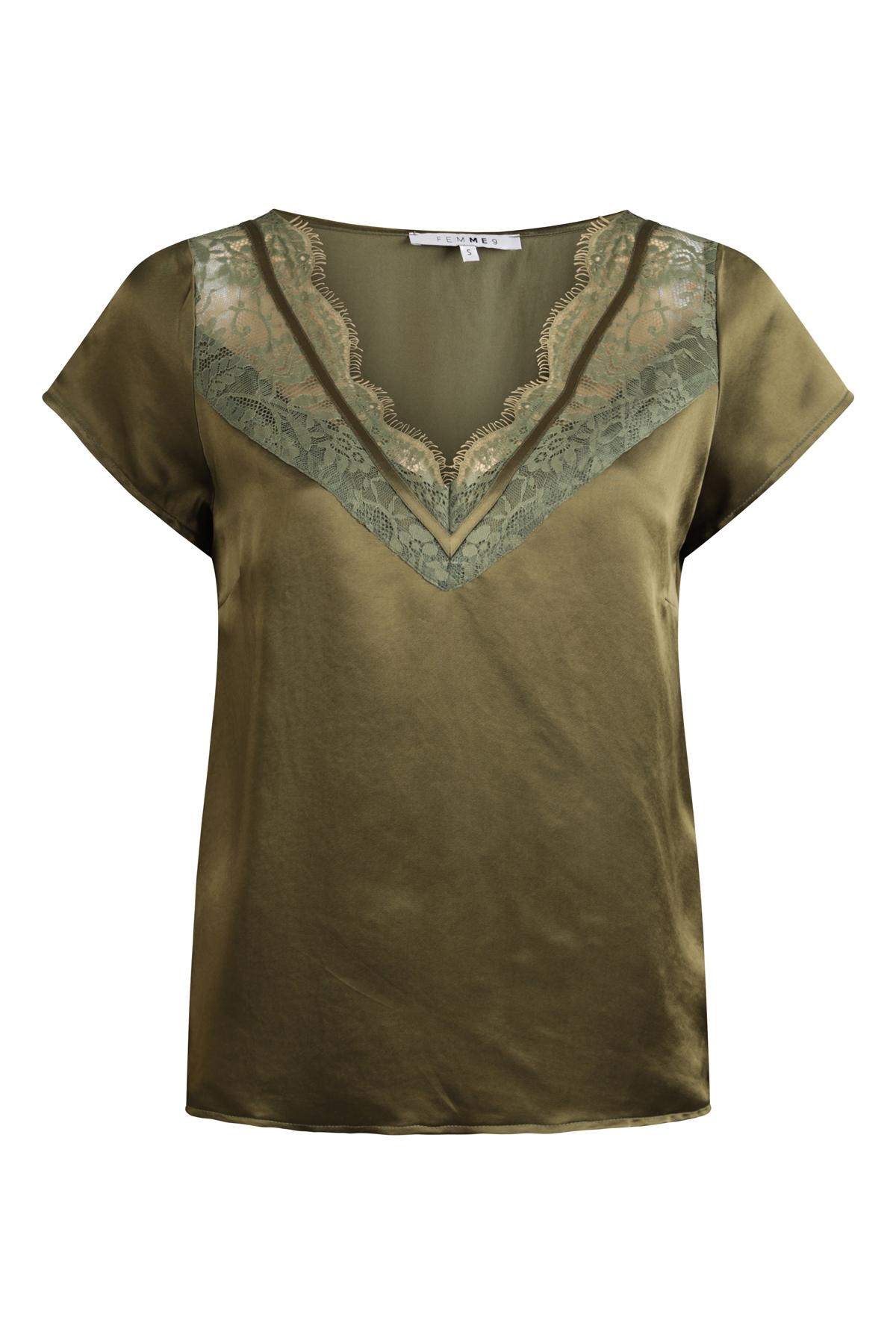 Femme9 Shirt - Top Groen Gigi