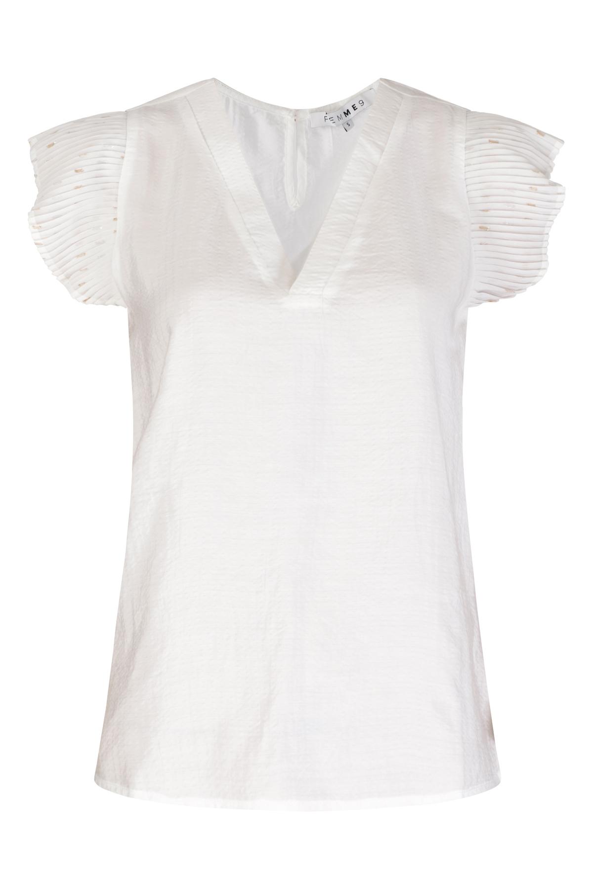 Femme9 Shirt - Top Wit Sayen