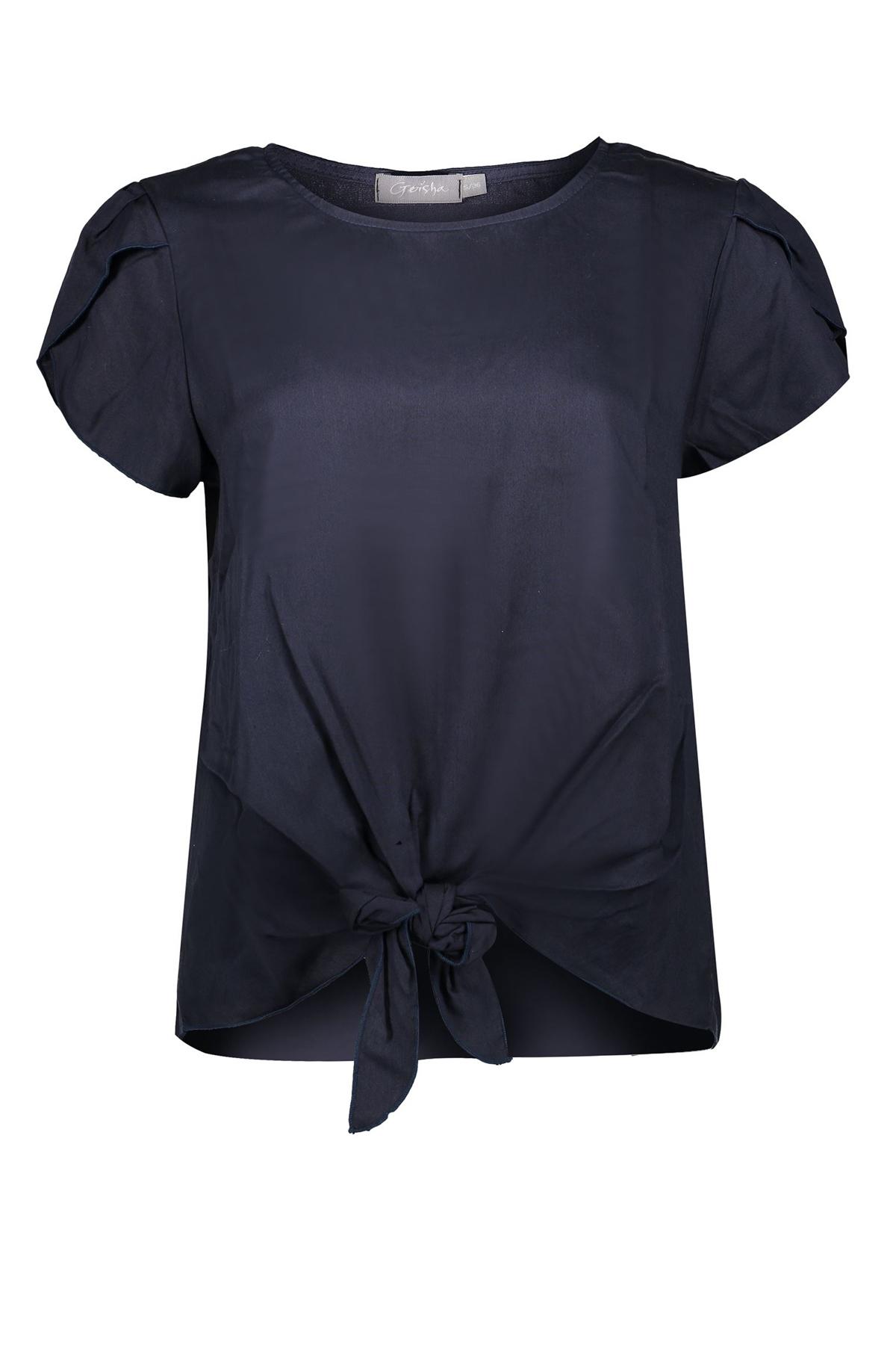 Geisha Shirt - Top Blauw 03289-70