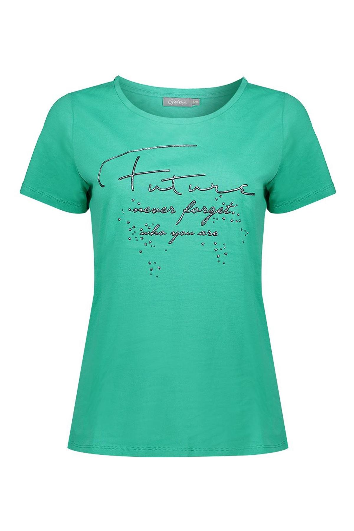 Geisha Shirt - Top Groen 02079-46
