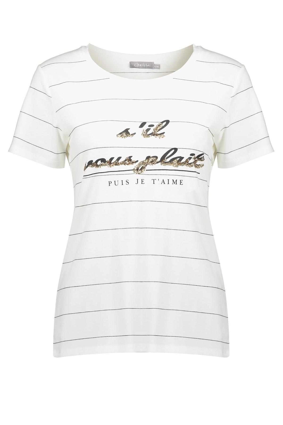 Geisha Shirt - Top Wit 02067-41