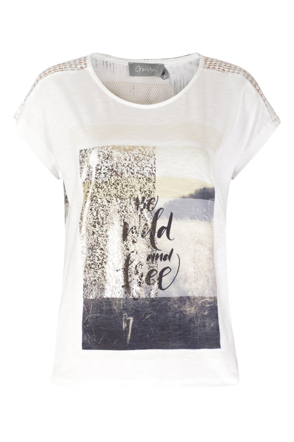 Geisha Shirt - Top Wit 03102-40