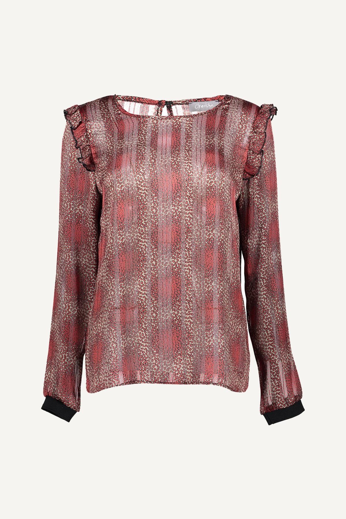 Geisha Shirt - Top Wit 03667-20