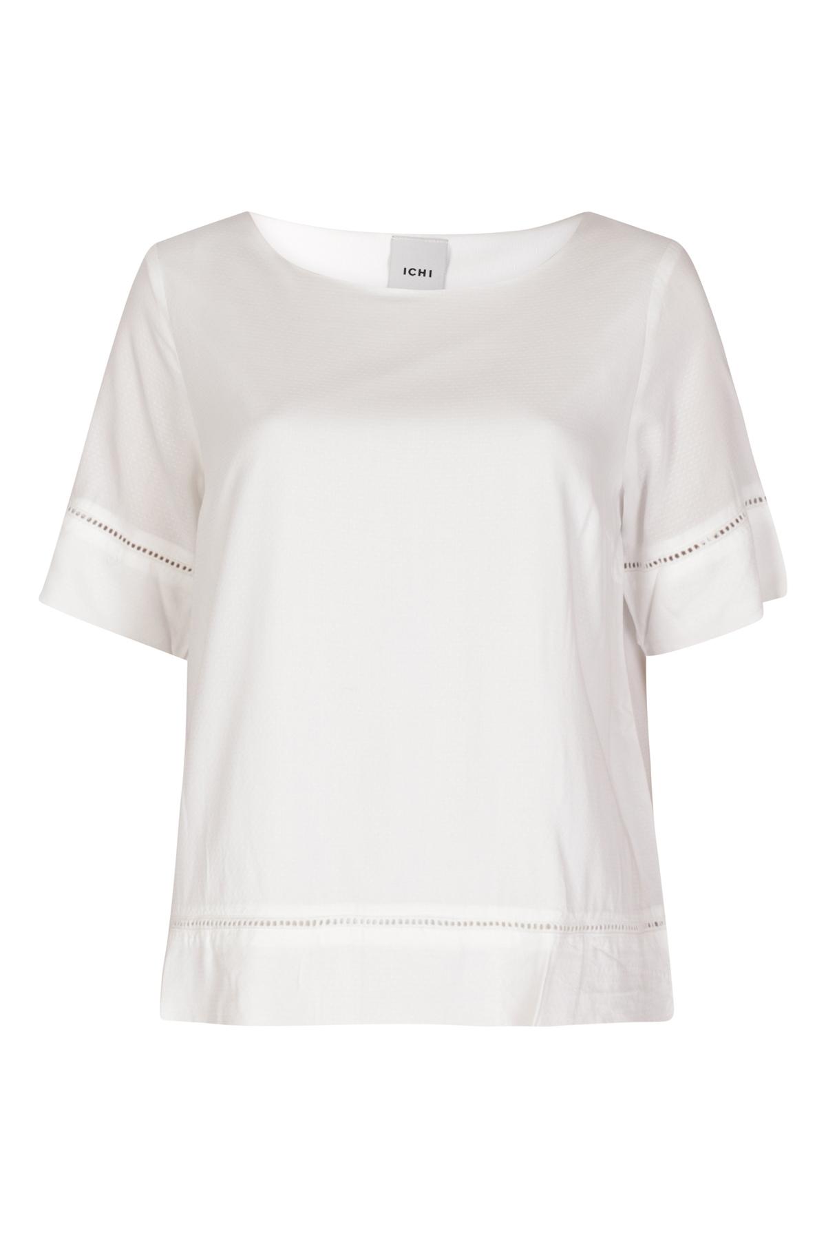 ICHI Shirt - Top Ecru Ihfernando SS