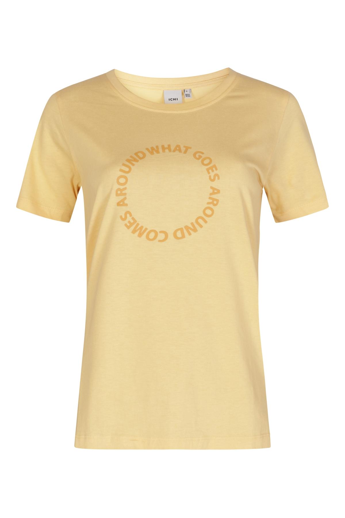 ICHI Shirt - Top Geel Ihregina SS