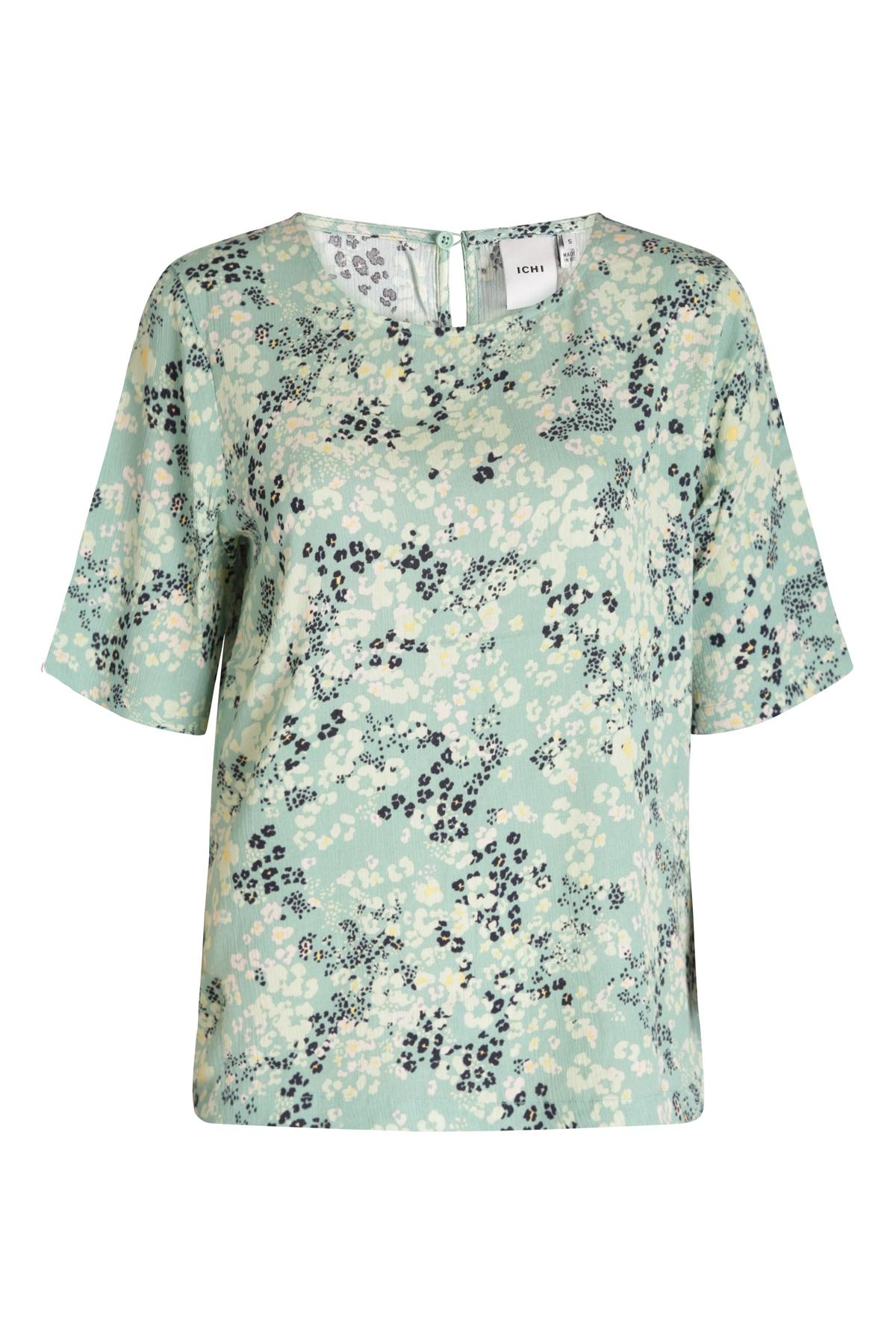 ICHI Shirt - Top Groen Ihmarrakech AOP SS3