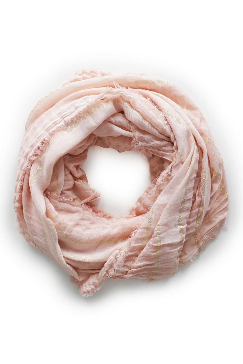 Le Ballon accessoire Roze Scarf Golden Stripe