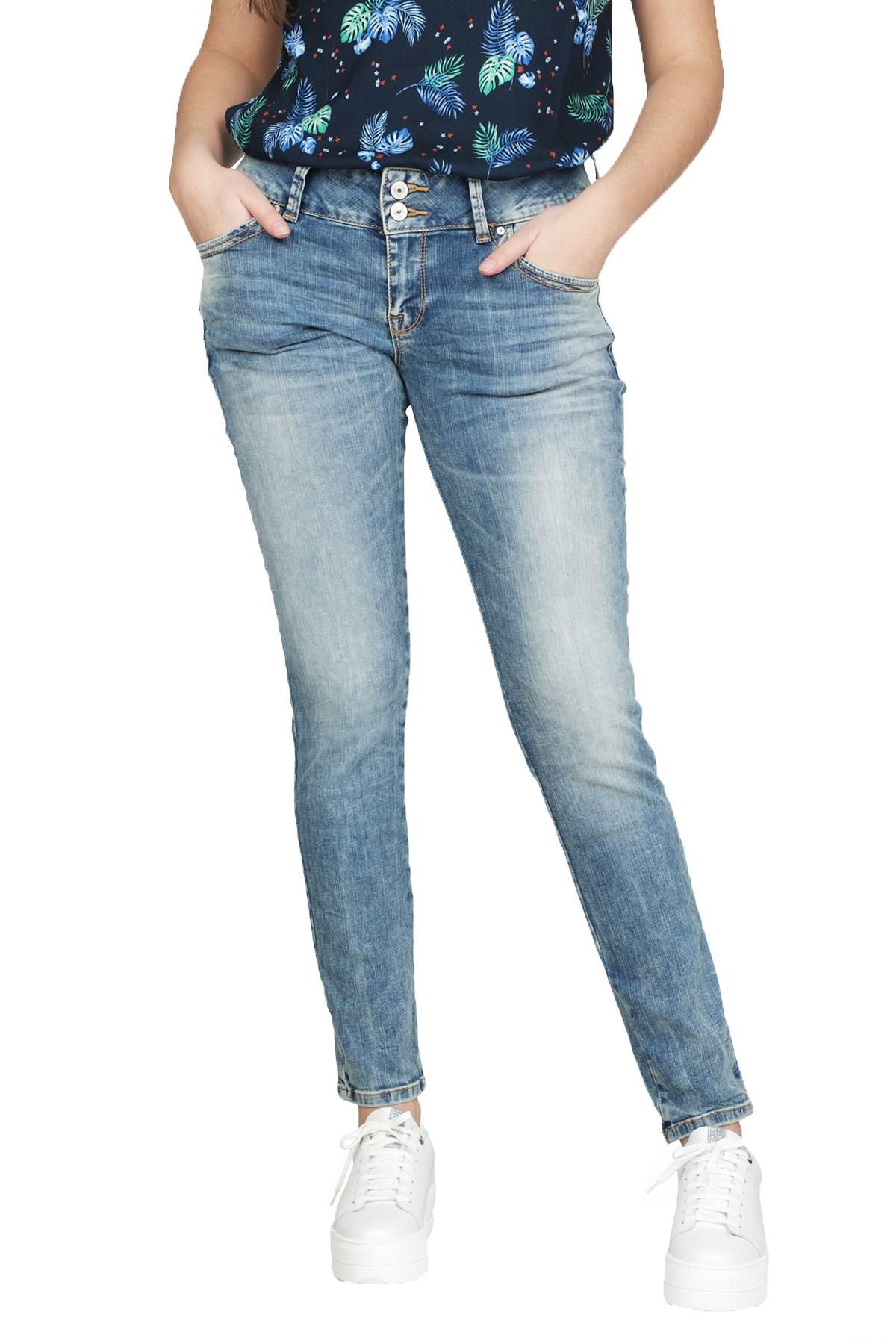 LTB Jeans Broek Blauw Molly Savannah wash