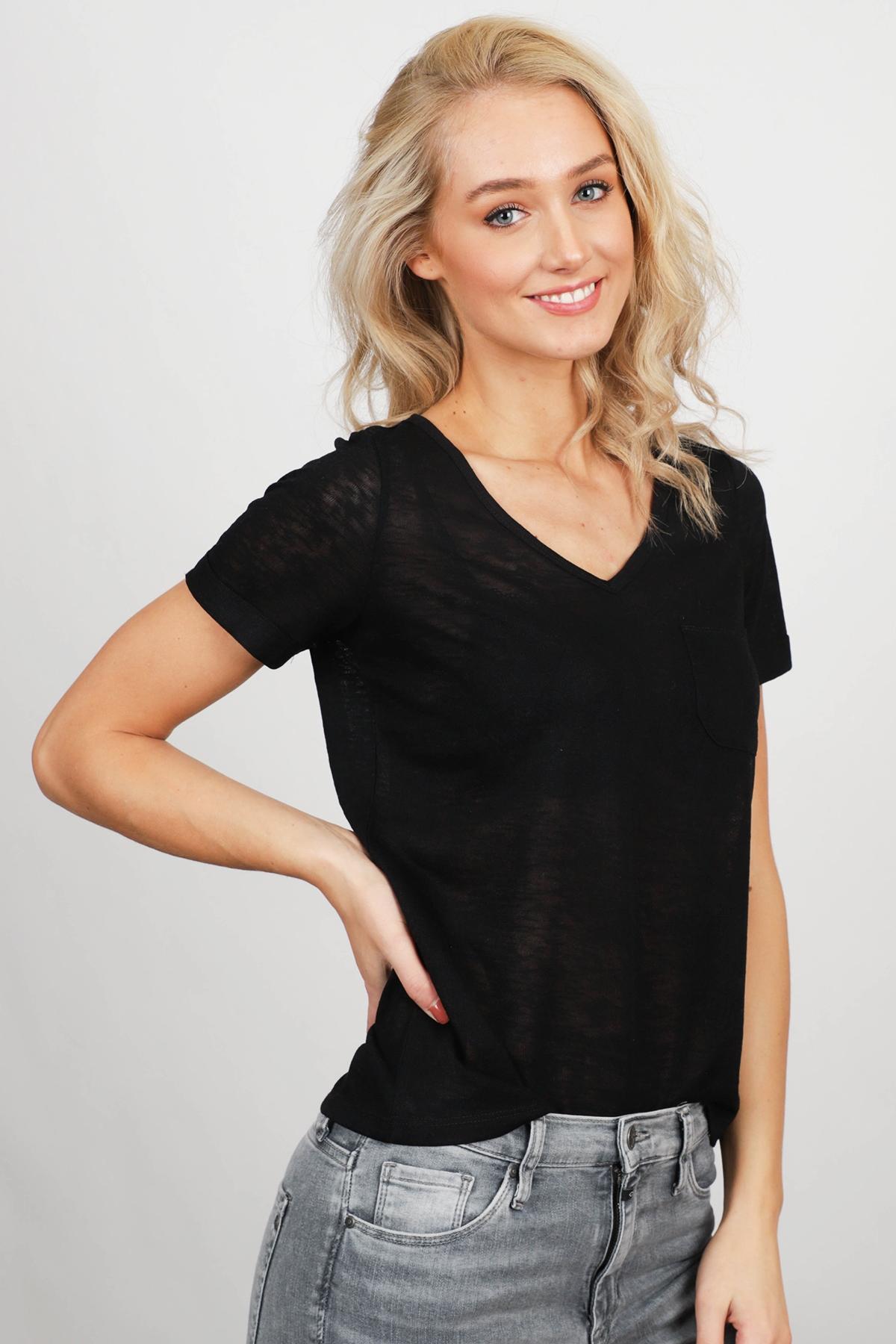 Object Shirt / Top Zwart 23023816