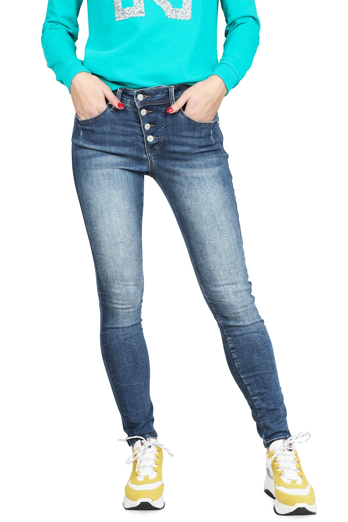 Red Button Broek Blauw Lola - sparkcle