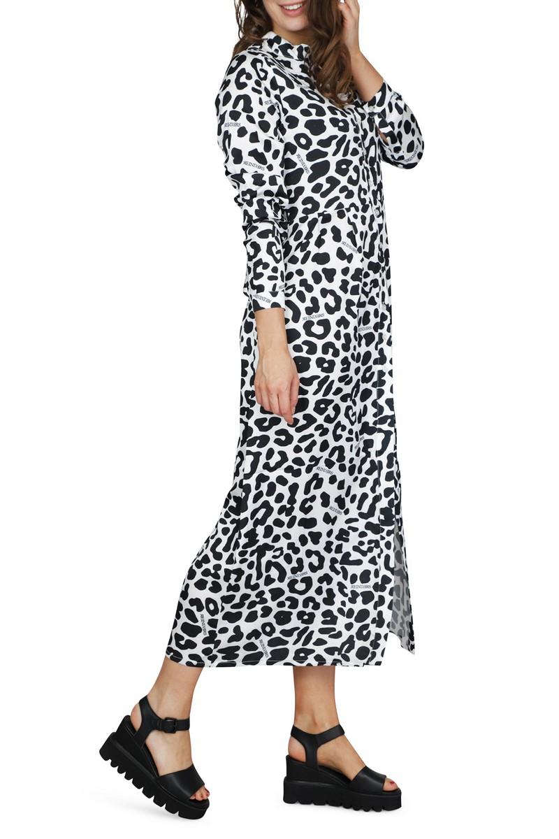 Reinders by Julie & Marie Jurk Zwart Blouse jurk leopard