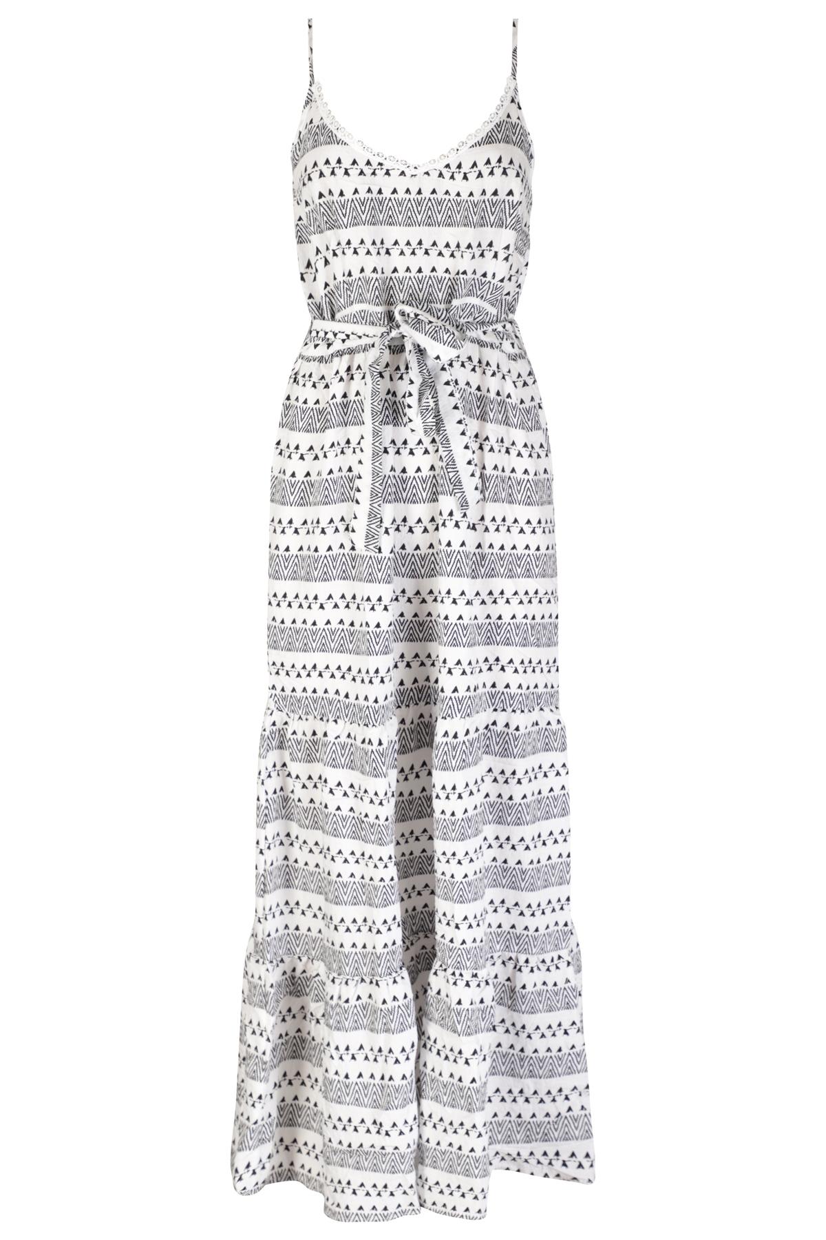 Smashed lemon Maxi-jurken Zwart 20162
