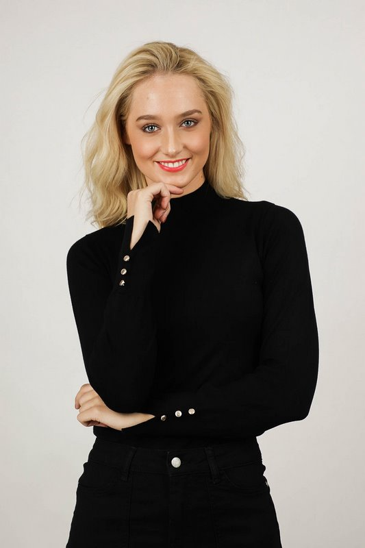 Your Essentials Shirt - Top Zwart Kyra