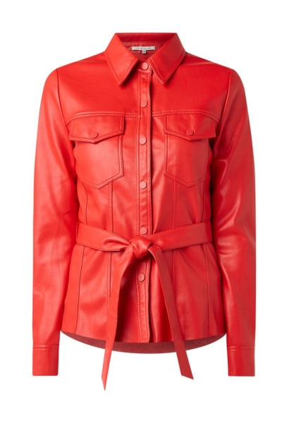 Mily Belted Blouse rood