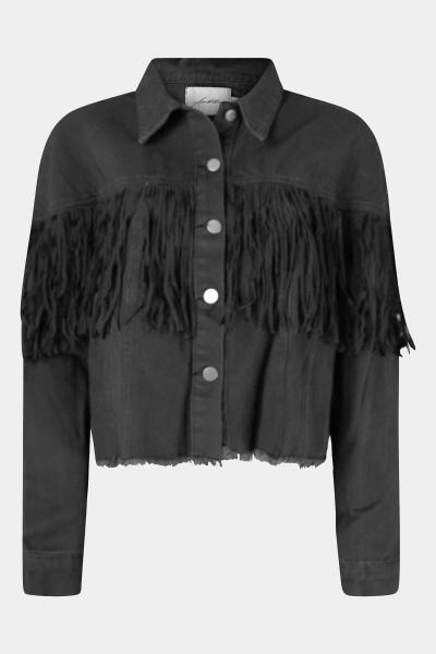 Zwart franje jasje kort  zwart