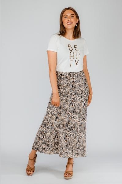 Skirt long AOP multi