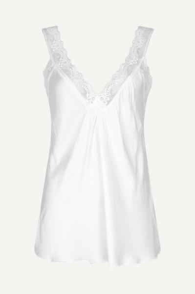 Hemdje satijn wit  wit