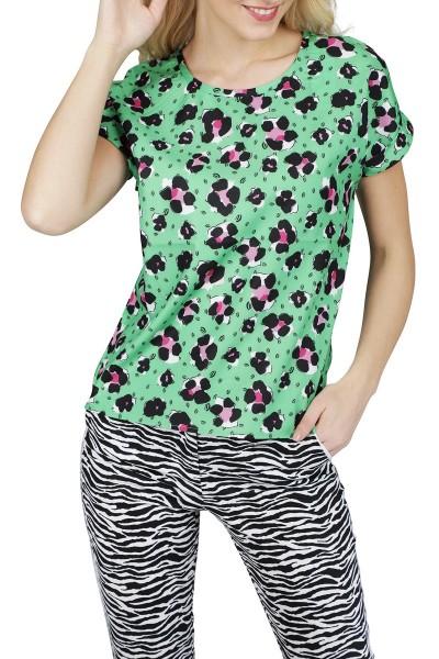 Glans animal roze groen fantasie  multi
