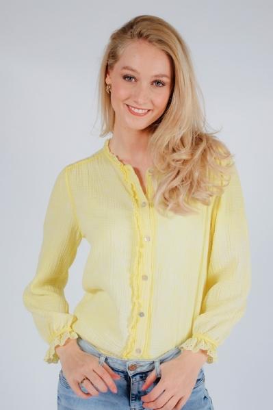 Blouse kant geel geel