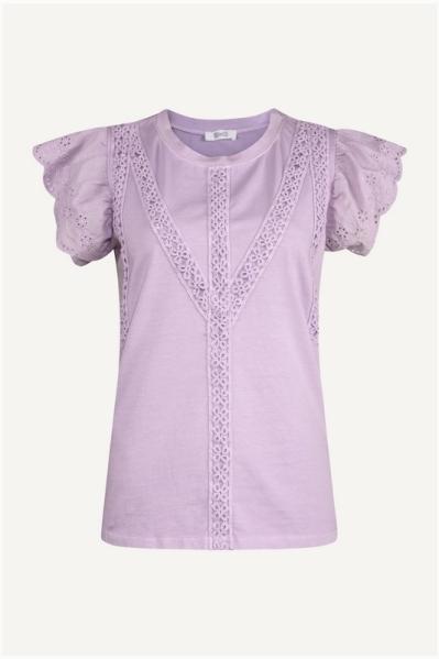 Shirt kapmouw lila lila
