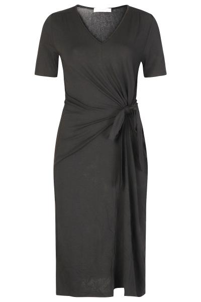Basic jurk knoop zwart