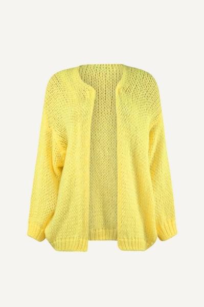 Vest bij blouse geel