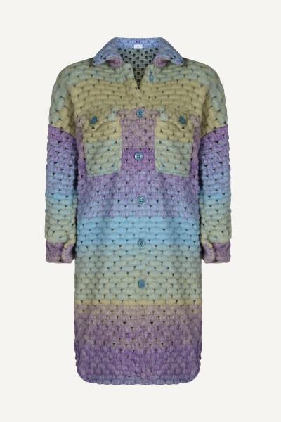 Multi colour vest lang jas multi