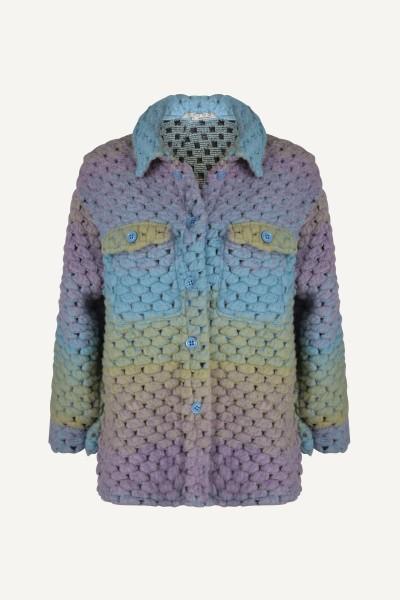 Multi colour vest jas multi