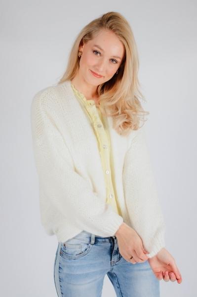 Vest bij blouse wit