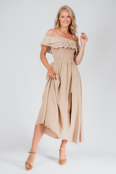 Le Ballon Maxi-jurk Beige 1087