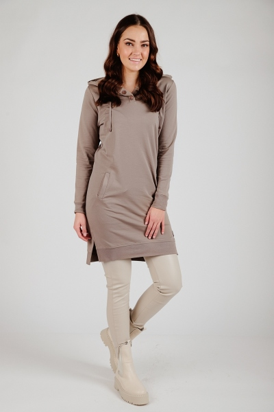 Zoso Midi-jurken Beige NINA