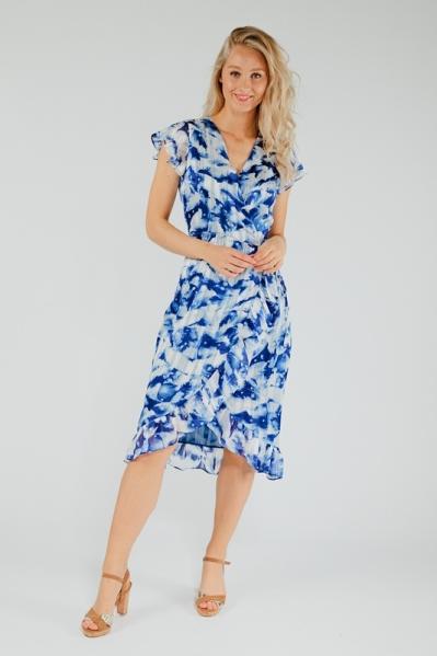 Freebird Midi-jurken Blauw ROSY MIDI WAVE