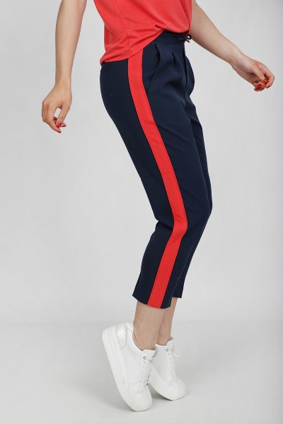 Freequent Broek Blauw Lizy-ankle-PA-tape