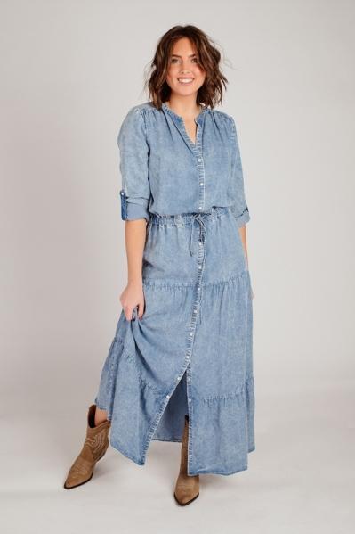 K-Design Maxi-jurken Blauw S901