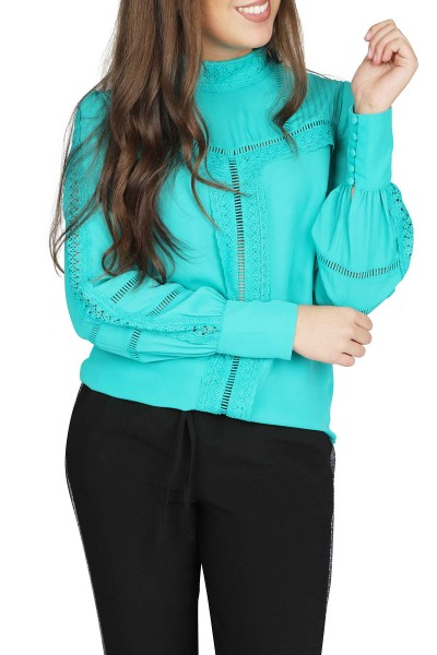 NIKKIE by Nikkie Plessen Shirt / Top Blauw Sara Blouse
