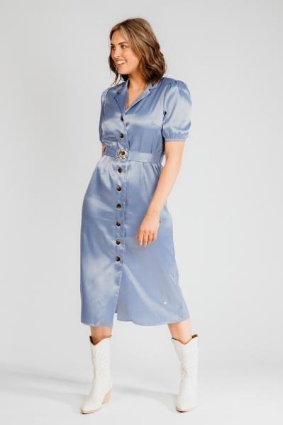 Nova Cinq Maxi-jurk Blauw Philo