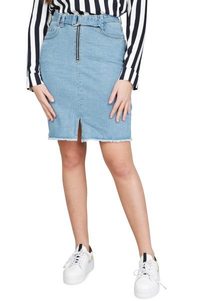 Object Rok Blauw Objlove denim skirt