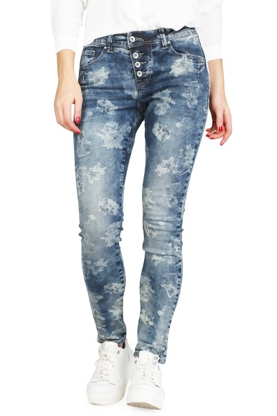 Red Button Broek Blauw Lola - flower