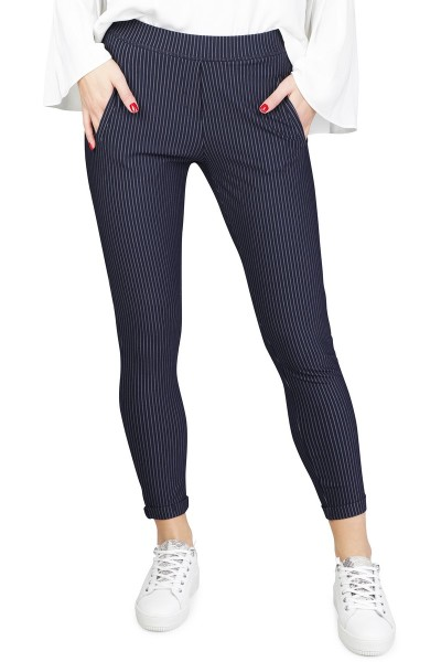 Red Button Broek Blauw Easy pinstripe