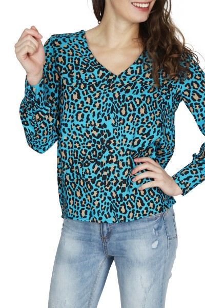 Typical Jill Shirt / Top Blauw Doreen