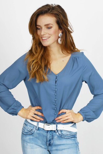 Vila Shirt / Top Blauw 14055396