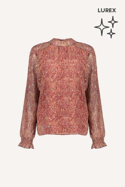 Geisha Shirt / Top Bordeaux 13681-20