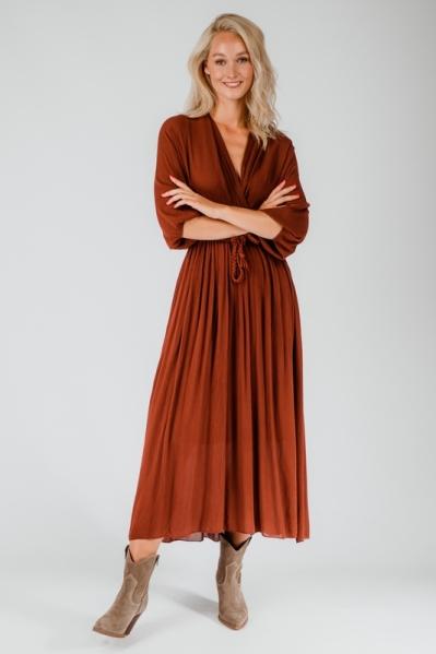 Ambika Maxi-jurk Brique Jurk uni