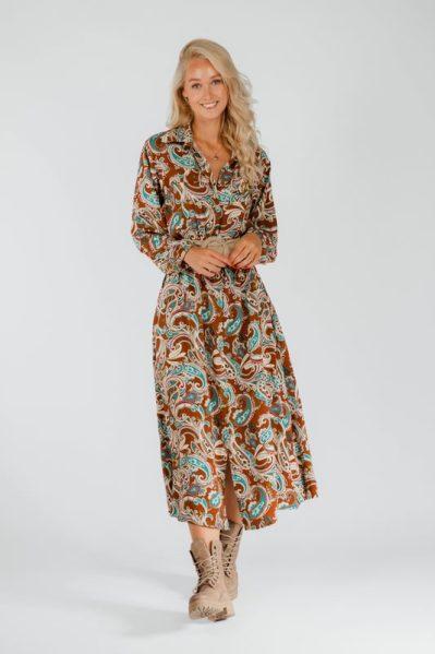 Typical Jill Maxi-jurk Brique Fredrika
